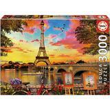 Jigsaw Puzzles Educa Sunset in Paris 3000 Pieces