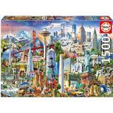 Classic Jigsaw Puzzles Educa North America Landmarks 1500 Pieces
