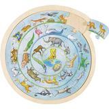 Classic Jigsaw Puzzles Goki Animal Circle 27 Pieces