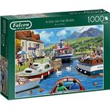 Classic Jigsaw Puzzles on sale Falcon A Day on the River 1000 Pieces