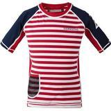 Children's Clothing Didriksons Surf UV T-shirt - Chili Red Simple Stripe (502473-946)