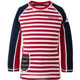 Children's Clothing Didriksons Surf Kid's Long Sleeve UV Top - Chili Red Simple Stripe (502471-946)