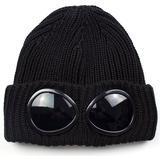 C.P. Company Extra Fine Goggle Beanie - Black
