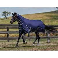 4 ft Weatherbeeta Comfitec Lite Classic Combo Neck Turnout Blanket Red//Silver//Navy