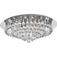 Searchlight Hanna 8 Light Flush Ceiling Crystal Light - 3408-8CC