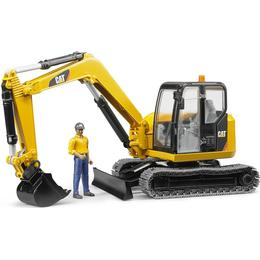 Bruder Cat Mini Excavator With Worker 02466