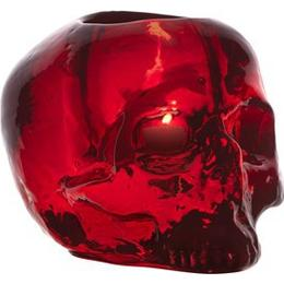 Kosta Boda Still Life Skull 11.5cm Candle Holder