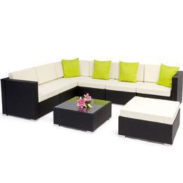 tectake Rattan garden furniture lounge Marbella Lounge Group