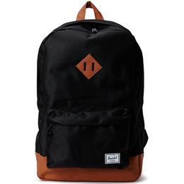 Herschel Heritage 21.5L - Black/Tan Synthetic Leather