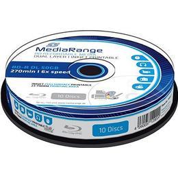 MediaRange BD-R 50GB 6x Spindle 10-Pack Wide Inkjet