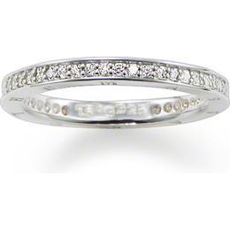 Thomas Sabo Pavé Eternity Ring - Silver/Transparent