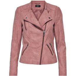 Only Leather Look Jacket - Pink/Ash Rose