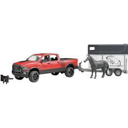 Bruder RAM 2500 Power Wagon with Horse Trailer & Horse 02501