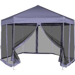vidaXL Hexagonal Pop-Up Tent 3.1x3.6m