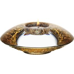Orrefors Discus 4.5cm Candle Holder