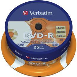 Verbatim DVD-R 4.7GB 8x Spindle 25-Pack Inkjet