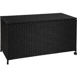 tectake Poly Rattan Outdoor Storage box with aluminium frame Cushion Box