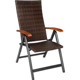 tectake Aluminium rattan garden chair Reclining Chair