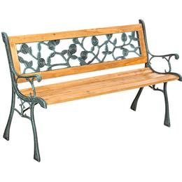 tectake Garden bench Marina made of wood and cast iron Garden Bench