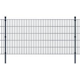 vidaXL 2D Garden Fence Panel & Posts 2mx103cm
