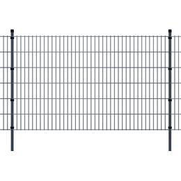vidaXL 2D Garden Fence Panels & Posts 48mx123cm