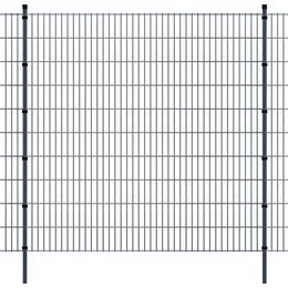 vidaXL 2D Garden Fence Panels & Posts 8mx203cm