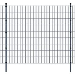 vidaXL 2D Garden Fence Panels & Posts 12mx183cm