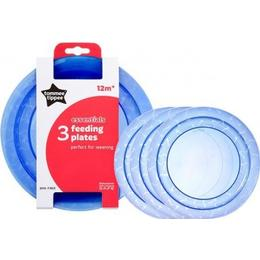Tommee Tippee Essentials Feeding Plates 3-pack