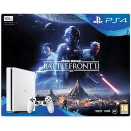 Sony PlayStation 4 Slim 500GB - White Edition - Star Wars: Battlefront II