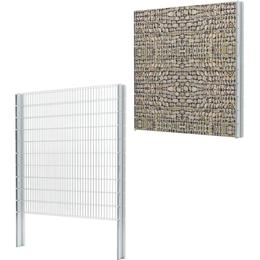 vidaXL 2D Gabion Fence Set 10mx203cm
