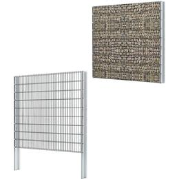 vidaXL 2D Gabion Fence Set 18mx183cm