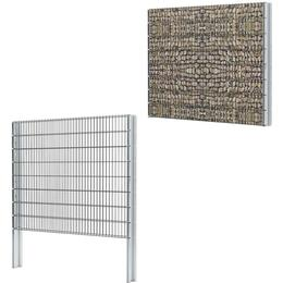 vidaXL 2D Gabion Fence Set 4mx163cm