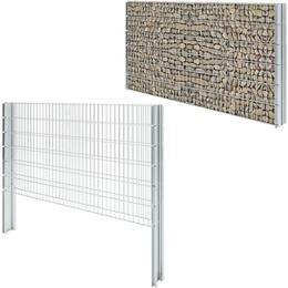 vidaXL 2D Gabion Fence Set 8mx123cm