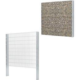 vidaXL 2D Gabion Fence Set 12mx183cm