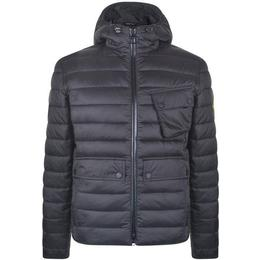 Barbour Oustan Hoodie Slim Quilted Jacket - Black