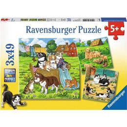 Ravensburger Cute Cats & Dogs 3x49 Pieces