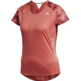Adidas Adizero Tee Women - Trace Scarlet/Collegiate Burgundy