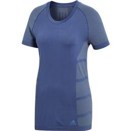 Adidas Primeknit Cru Tee Women - Noble Indigo/Raw Steel