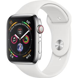 Apple Watch Series 4 Cellular 44mm Stainless Steel Case with Sport Band