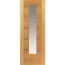 JB Kind Mistral Oak Glazed Pre-finished Interior Door Clear Glass (83.8x198.1cm)