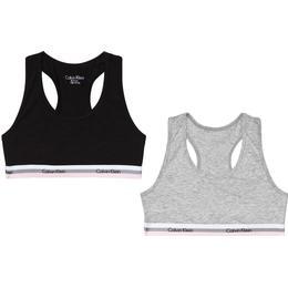 Calvin Klein CK Graphic Girls Bralettes 2-pack - Grey Heather/Black