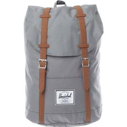 Herschel Retreat Backpack - Grey/Tan Synthetic Leather