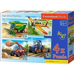 Castorland Agricultural Machines 4 in Box 55 Pieces