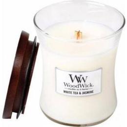 Woodwick White Tea & Jasmine Medium Scented Candles