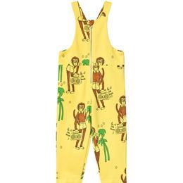 Mini Rodini Cool Monkey Dungarees - Yellow (1923015023)