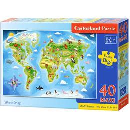 Castorland World Map Maxi 40 Pieces