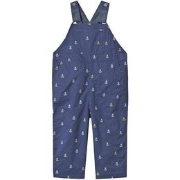 Frugi Little Tom Dungaree - Marine Blue Anchors (DUS905MBA)