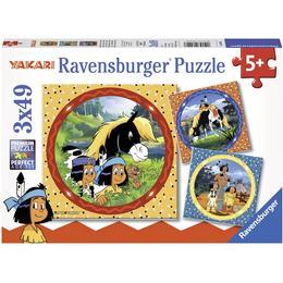 Ravensburger Yakari the Brave Indian 3x49 Pieces
