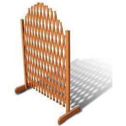 vidaXL Extendable Wood Trellis Fence 180x100cm