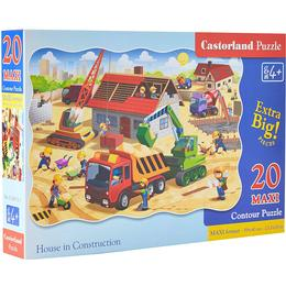Castorland House in Construction Maxi 20 Pieces